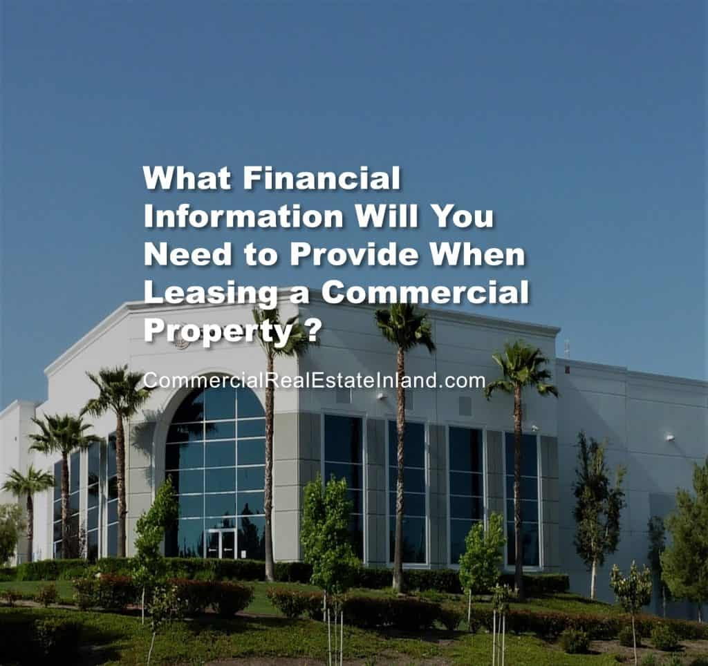 Commercial Lease Financial Information to provide when leasing space